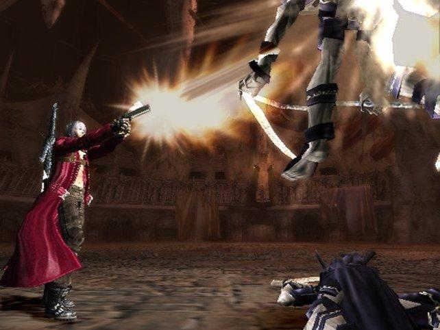 Da isser schon ziemlich wach, der Dante. Der Gegner hätte sich wohl das Gegenteil gewünscht.
