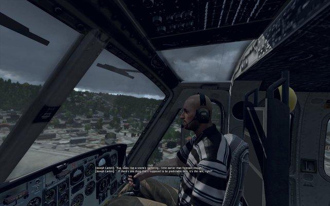 Eure Geschichte fängt neben eurem Bruder an. Als Copilot dürft ihr erste Abstürze .. ääh ... Flugversuche unternehmen.