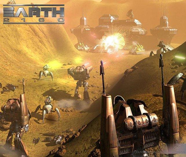 Gigantische Einheiten kämpfen um den Sieg.