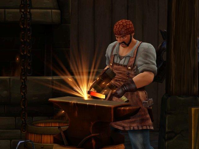 Der Schmied liefert Waffen und Werkzeuge.
