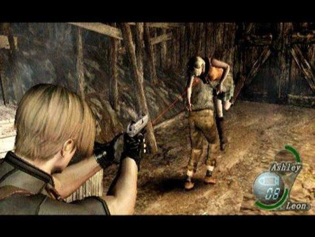 Leon muss sich nicht nur um die Zombies kümmern, sondern auch den Babysitter für die Präsidententochter Ashley spielen.