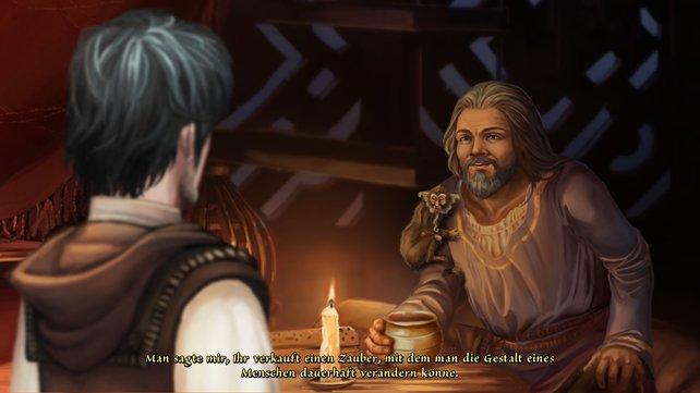 Der Händler Fahi schlägt Geron ein folgenschweres Geschäft vor.