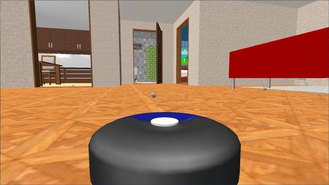 Im Robot Vacuum Simulator 2013 steuert ihr einen kleinen Staubsauger.