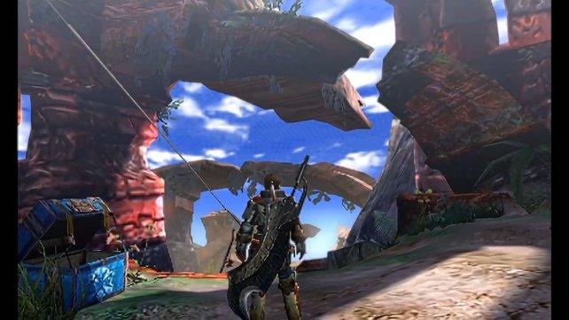 Auf dem 3D-Bildschirm des 3DS entfalten sich vielfältige Umgebungen.