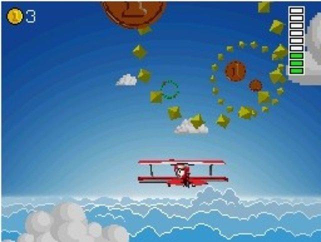 Schon der Flug zum Reiseziel ist ein gutes Minispiel