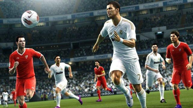 Christiano Ronaldo ist dieses Jahr das Gesicht von Pro Evolution Soccer.
