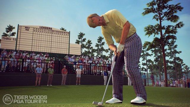Die Spieler, wie hier Jack Nicklaus, sehen ihren realen Vorbildern sehr ähnlich.