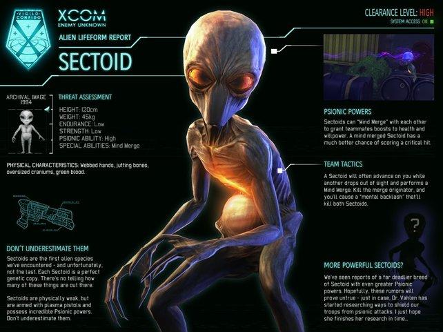 In Xcom - Enemy Unknown sind Außerirdische eure Gegner.