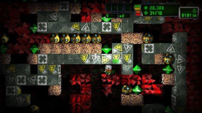 Minen, Monster, Mega-Diamanten - wer findet den richten Weg zum Ausgang?