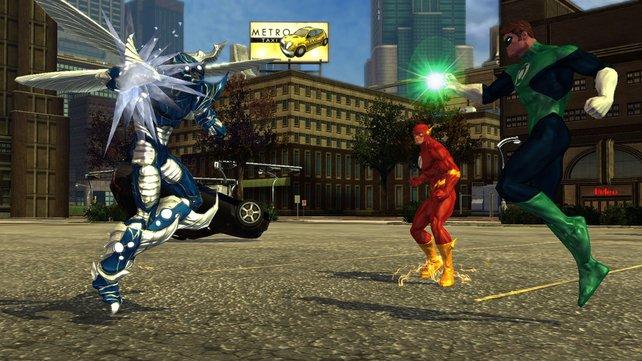 Auch Green Lantern gibt sich die Ehre.