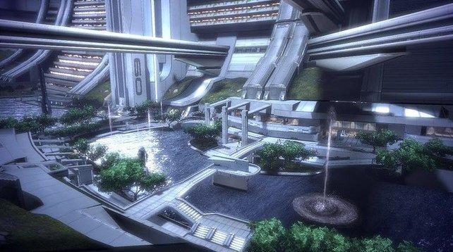 Die Raumstadt Citadel ist leider die einzige größere Stadt im Spiel.