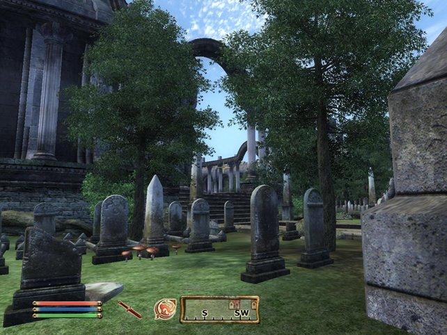 Auf den Friedhof führt uns die Handlung früh