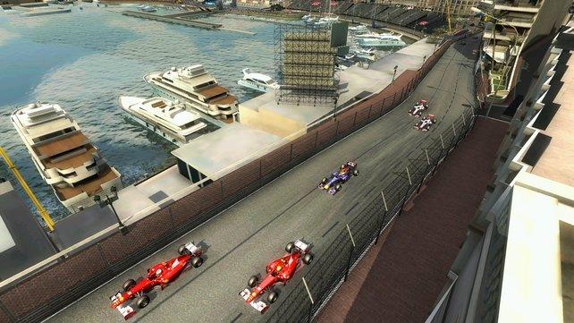 Riskante Überholmanöver auf dem engen Stadtkurs von Monaco.