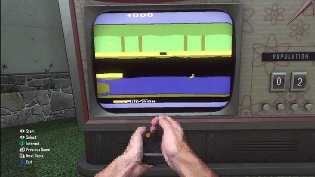 Alte Videospiel-Klassiker von Activision mit verpixelten Händen spielen? Das ist in Black Ops 2 möglich.