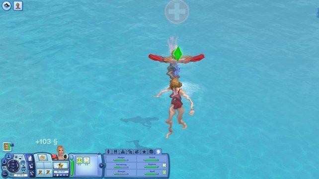 Als Rettungsschwimmer rettet ihr anderen Sims das Leben.