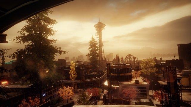 Das virtuelle Seattle zeigt detaillierte Umgebungsgrafik.