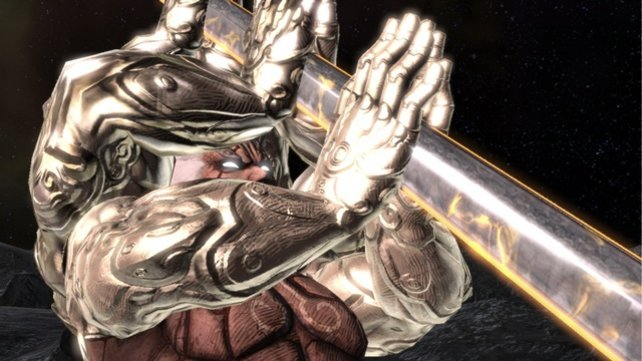Asura wert Augus Schwertschläge auch mal mit bloßen Händen ab.