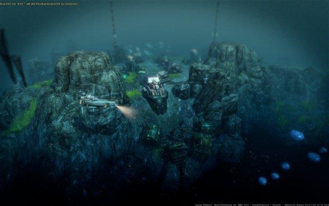 Die Unterwasserwelt befahrt ihr mit U-Booten. Ohne die Tech-Fraktion läuft hier aber nix.
