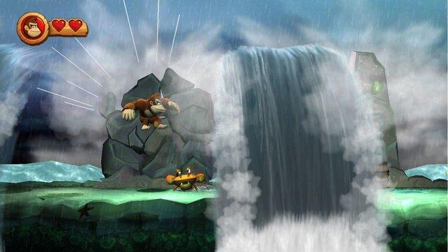 Versperrter Weg: Donkey Kong muss einen freien Pfad finden.