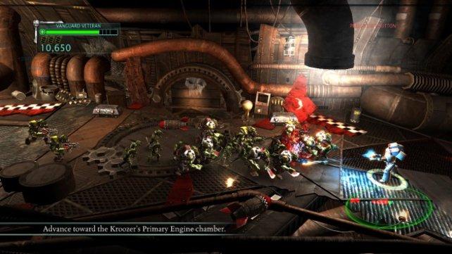 Das Warhammer-Universum funktioniert auch als simpler Arcade-Shooter.