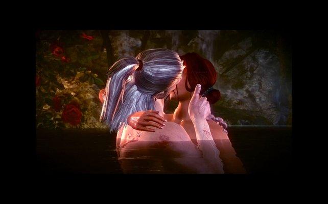 Ein kleiner Kuss im Wasser. Wie romantisch ...