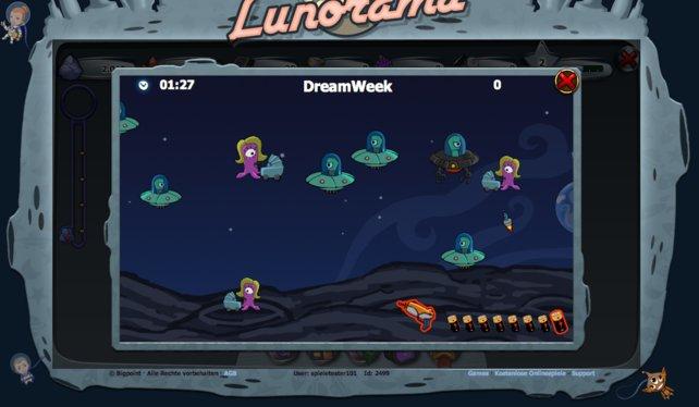 In Lunorama gibt es Minispiele wie zum Beispiel Shooter Star.