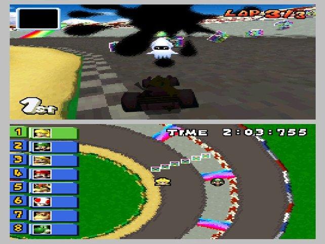 Auch auf dem DS macht Mario Kart riesigen Spaß.