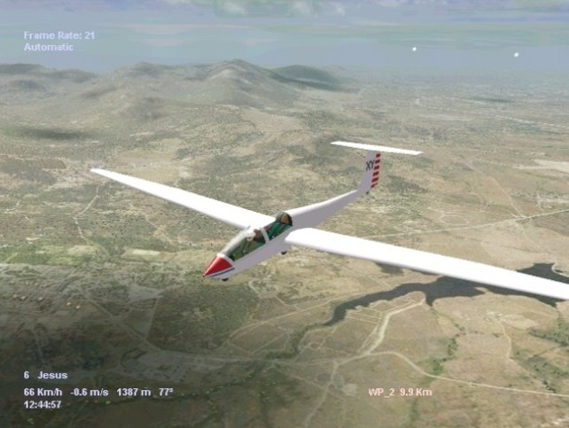 Der Segelflug-Simulator - unendliche Weiten. Oder so ähnlich.