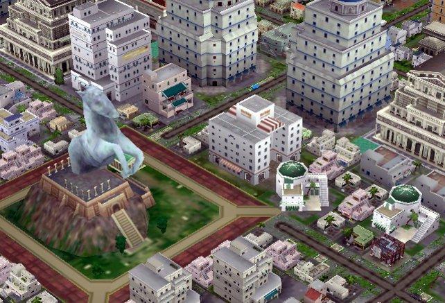Ein schickes Pferd in die Mitte eurer Stadt und darum pulsiert das Leben
