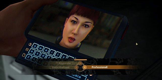 Eure Verbündete Mina versorgt euch via PDA ständig mit Infos.