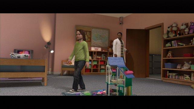 Das Spiel ergründet auch die schwere Kindheit Jodies, die sie in einer Forschungsanlage verbringt.