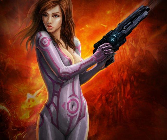 Eine der Heldinnen des Spiels Avalon Wars.