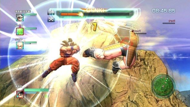 Für seine härtesten Angriffe greift Son Goku auf die Genki-Energie der ganzen Welt zurück.