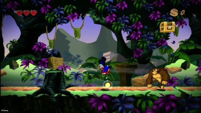 In Duck Tales - Remastered geht ihr mit Onkel Dagobert auf Schatzsuche.