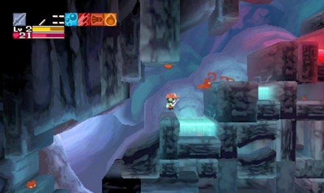 Die Farbwahl von Cave Story gefällt - auf dem 3DS-Bildschirm sieht das Spiel prima aus.