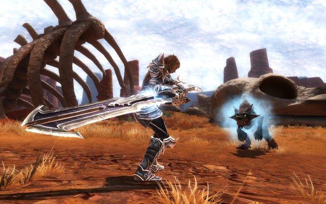 Große Waffen sind an der Tagesordnung - sofern ihr euch für einen Krieger entscheidet.