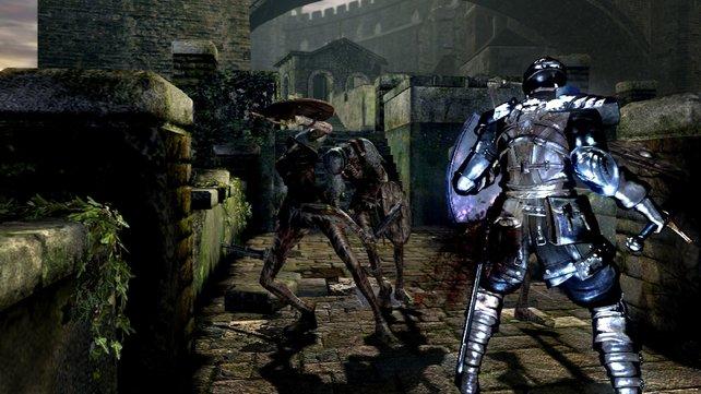 Oft greifen die Gegner in engen Räumen an. Fliehen fällt dann schwer.