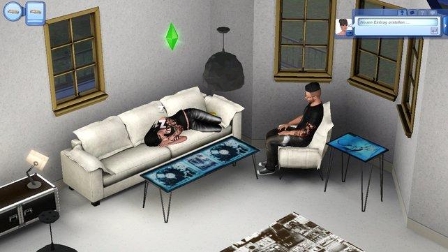Unglaublich, ein Sofa! Findet auch euer Sim eher zum Einschlafen.
