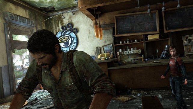 Wer suchet, der findet: Ellie und Joel suchen die zerstörten Umgebungen und Häuser nach nützlichen Gegenständen ab.