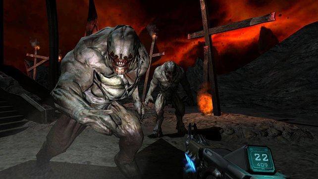 Die aufgefrischte Optik von Doom 3 BFG lehrt Spielern erneut das Fürchten.