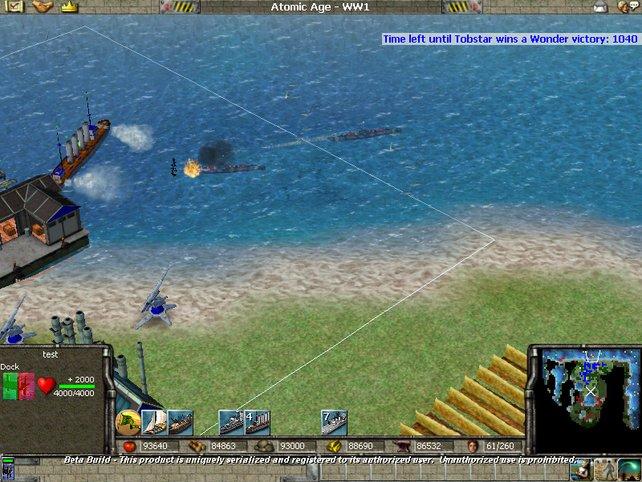 Unser Hafen wird von U-Booten angegriffen.