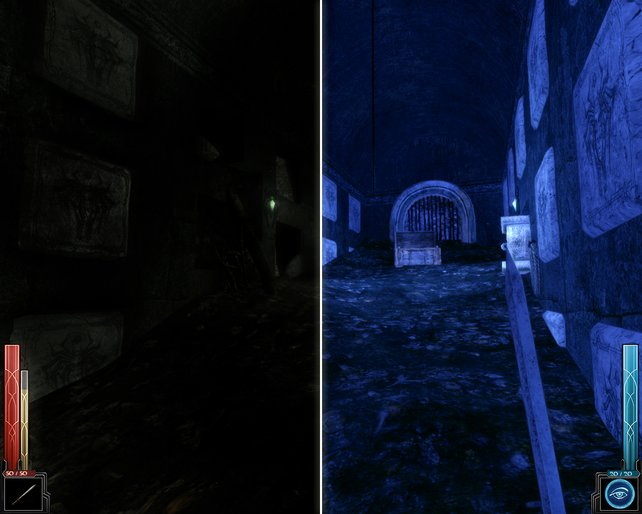 Bei Dunkelheit kann das Nachtsichtgerät für kurze Zeit helfen