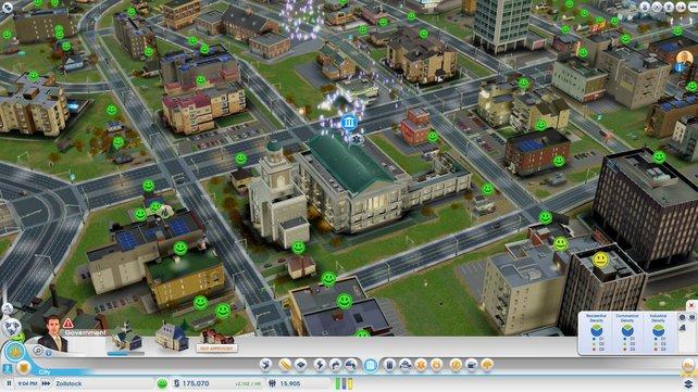 Das Rathaus ist aufgestiegen. Zeit für ein Feuerwerk.