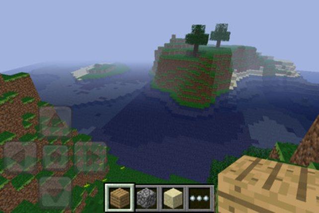 Auch das geschrumpfte Minecraft macht Spaß.