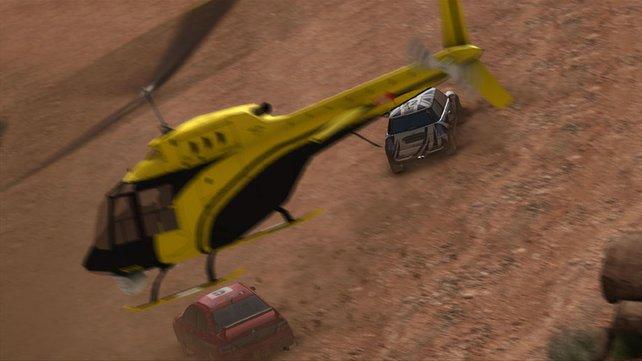 Einzelheiten, wie Helikopter, geben dem Spiel ein gewisses Etwas