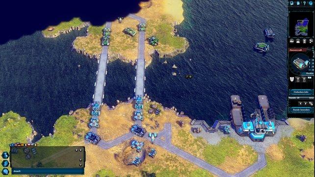 Hinter der Brücke lauert der Feind.