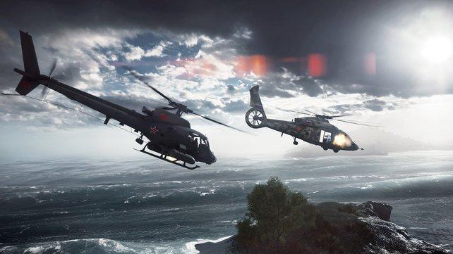 Hubschraubereinsatz! Jetzt kommen die großen Geschütze.