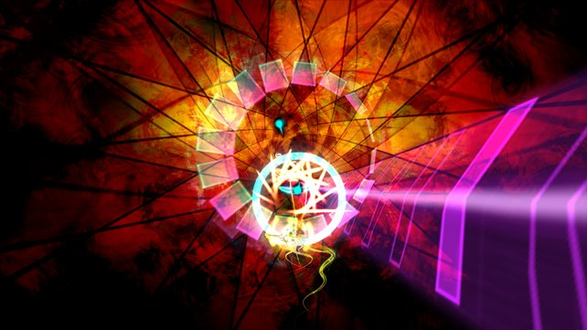 Dyad besticht mit psychedelischer Grafik.