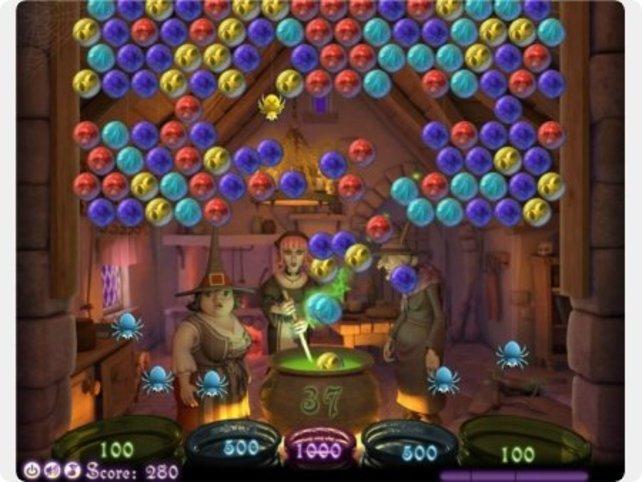 """Bubble Witch ist ein typisches """"Bubble-Pop""""-Spiel."""