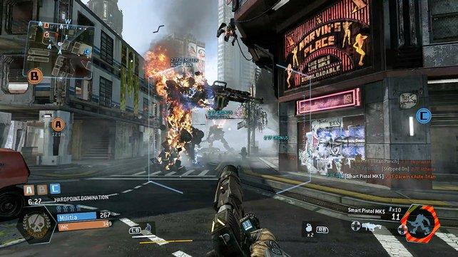 Zu Fuß und mit riesigen Kampfrobotern bekriegt ihr euch online mit dem Feind.